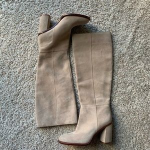 Vince Camuto tan camel suede knee high boot